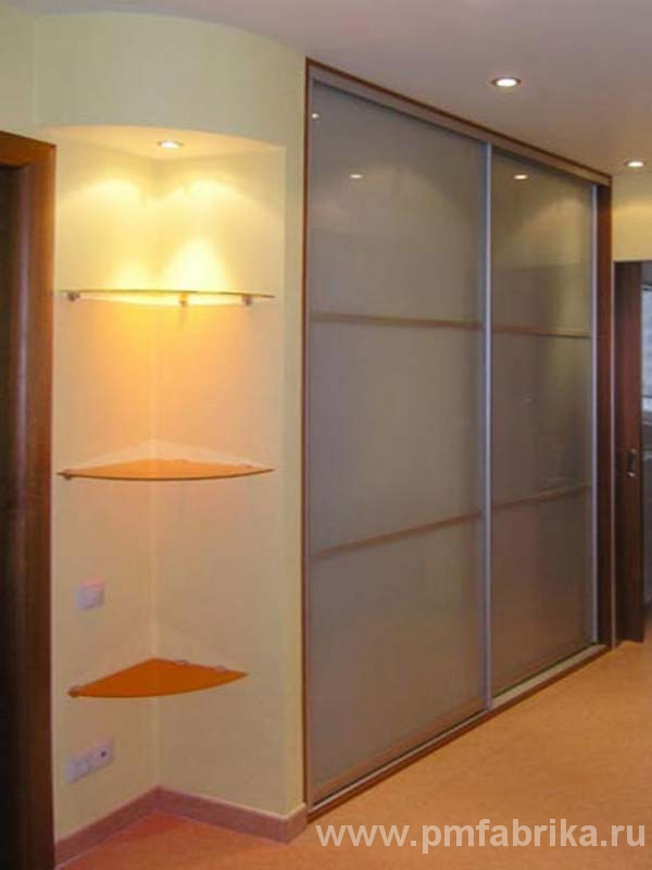 Двери-купе для ниши в коридоре на рижском пр. - заказать в к.